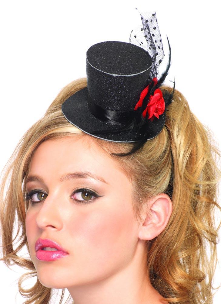womens glitter top hat mr costumes