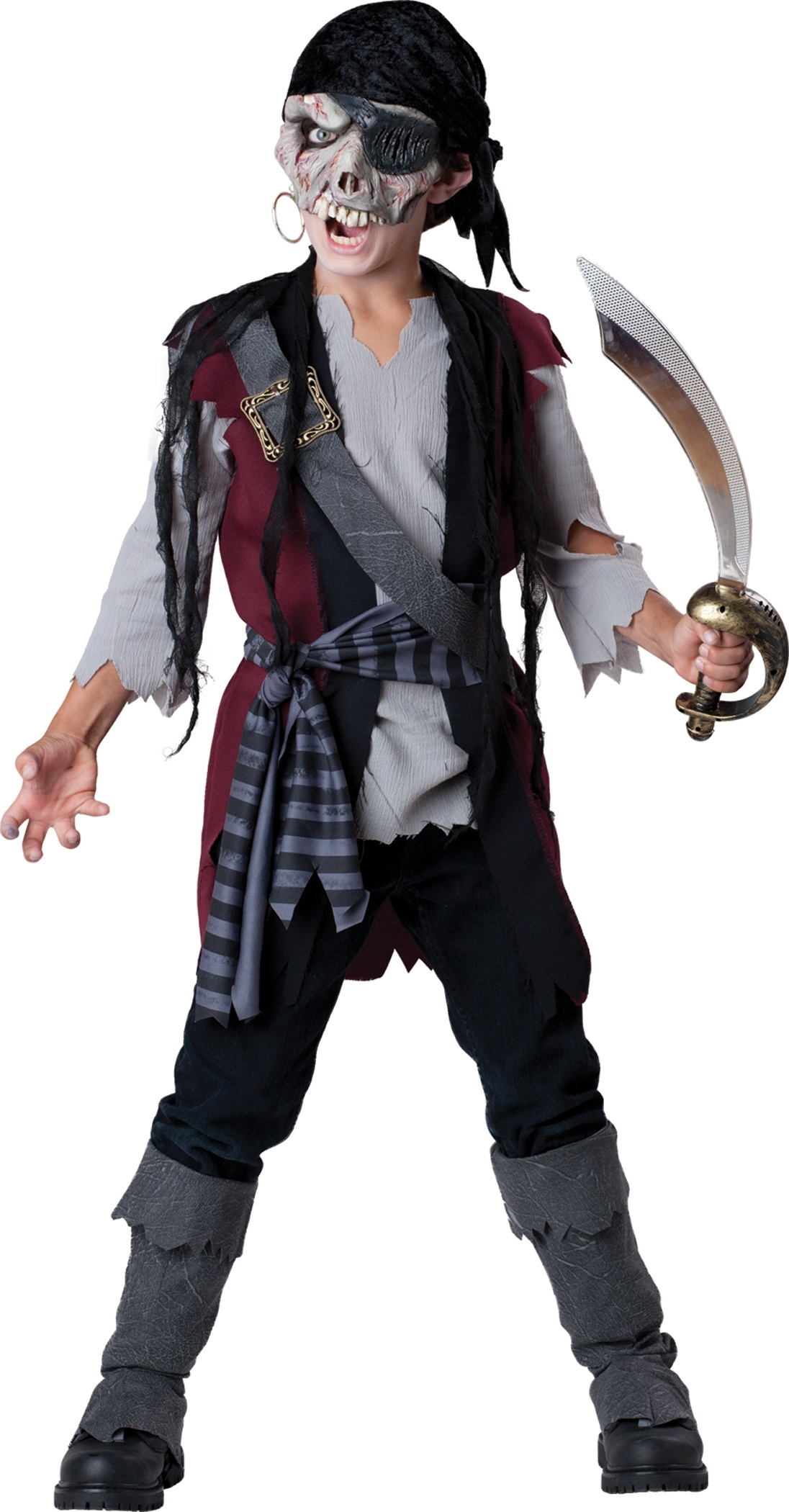 boys shipwrecked zombie pirate kids costume mr costumes. Black Bedroom Furniture Sets. Home Design Ideas