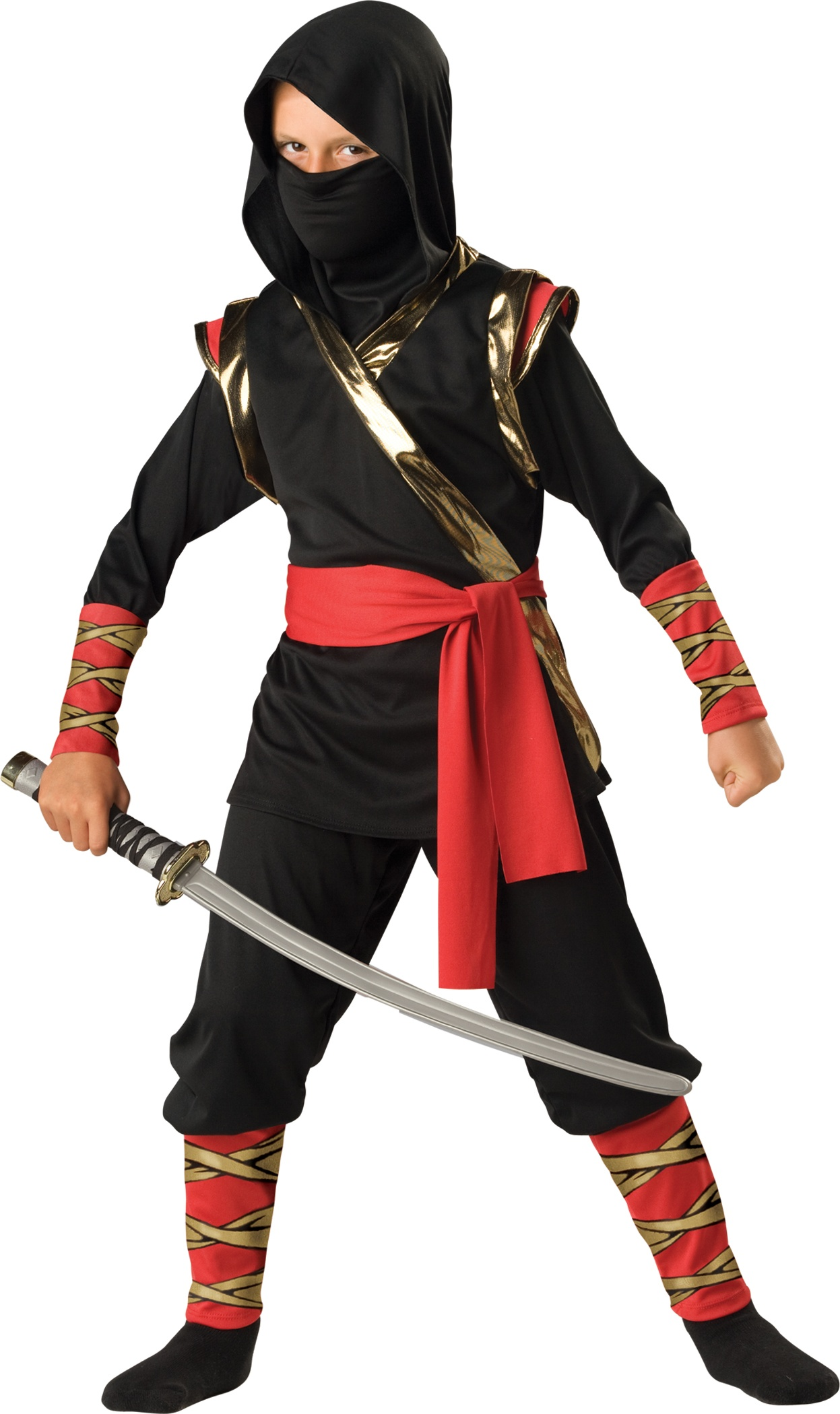 Boys Warrior Ninja Kids Costume - Mr. Costumes