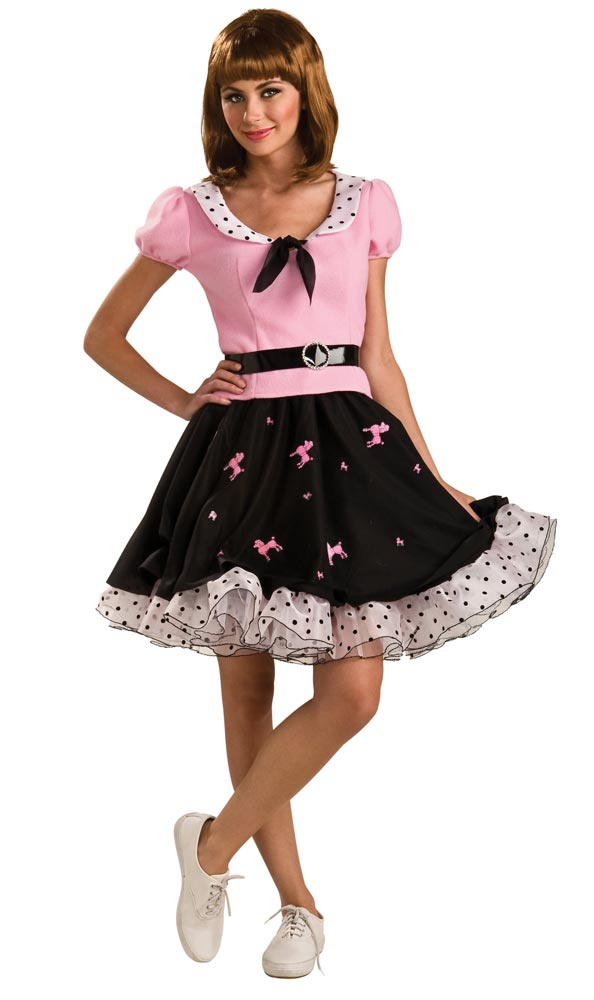 Adult Suzie Q Poodle Skirt 50s Costume - Mr. Costumes