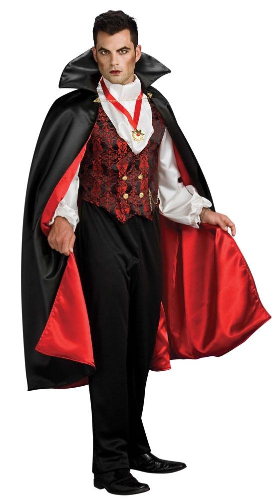 Mens Transylvanian Adult Vampire Costume  Mr Costumes - Vampire Costumes