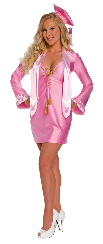 Playboy Sexy School Girl Graduate Costume