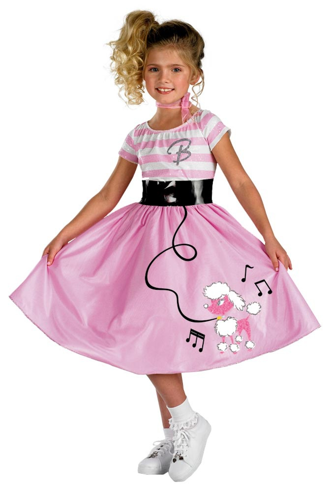 Home >> Barbie Costumes >> Girls Barbie Sock Hop 50s Costume