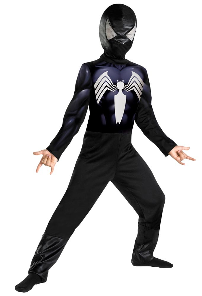 Kids Classic Black Spiderman Costume - Mr. Costumes