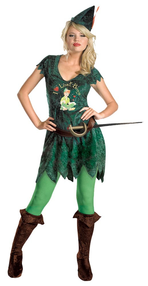 Womens Sassy Adult Peter Pan Costume. Peter Pan Costumes
