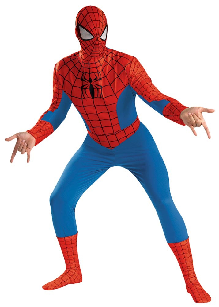 Mens Deluxe Adult Spiderman Costume Costumes