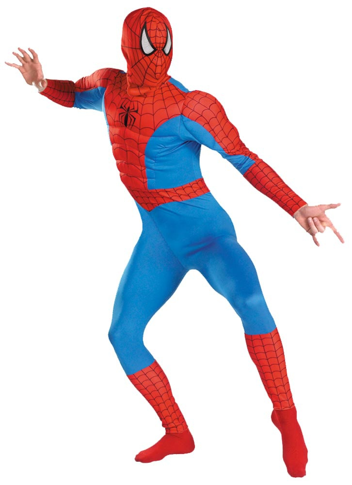 Classic Adult Spiderman Muscle Costume - Mr. Costumes