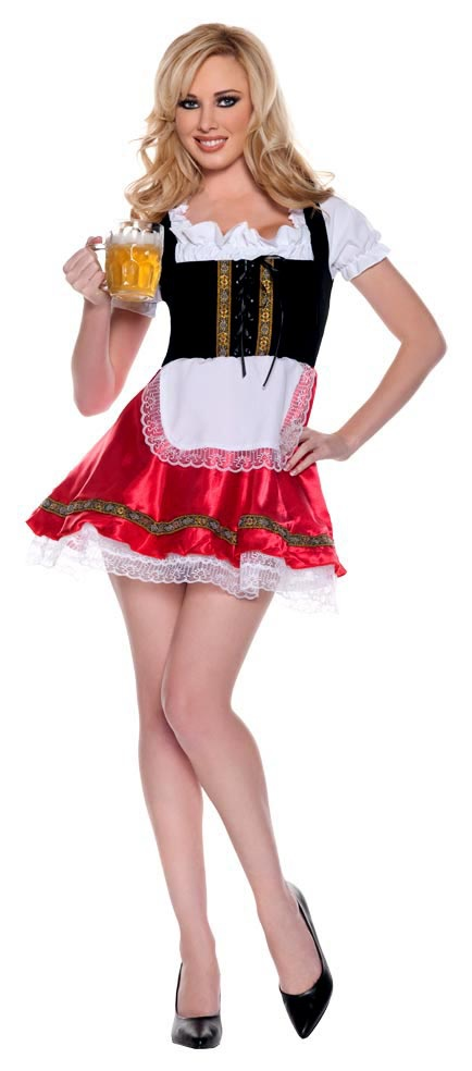 Womens Deluxe Barmaid Sexy Beer Girl Costume. Heidi Costumes