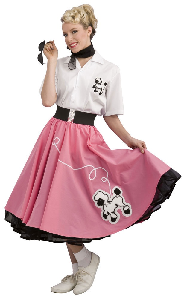 Home >> 50s Costumes >> Grand Heritage Pink 50s Poodle Skirt Costume
