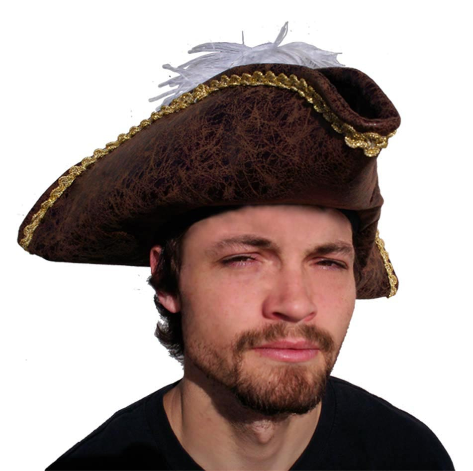 Faux Suede Adult Pirate Hat Costumes