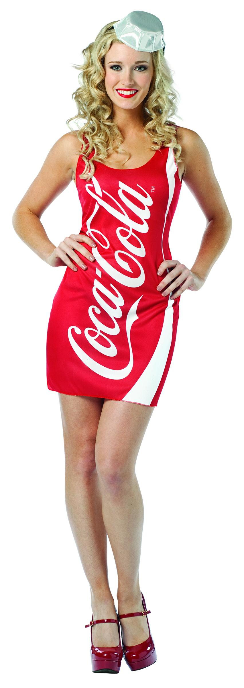 Sexy Coca Cola Dress Food Costume - Mr. Costumes