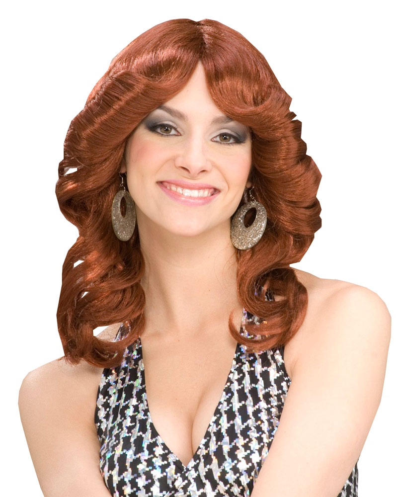 Womens Auburn Disco Doll Wig Costumes
