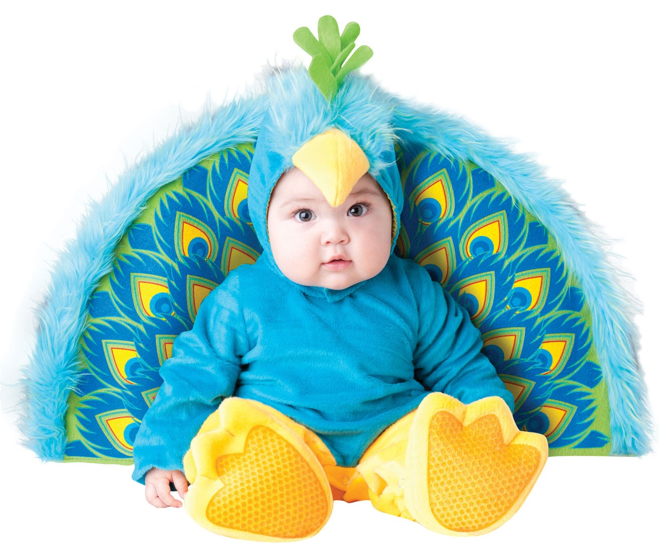 furry blue precious peacock baby costume mr costumes. Black Bedroom Furniture Sets. Home Design Ideas