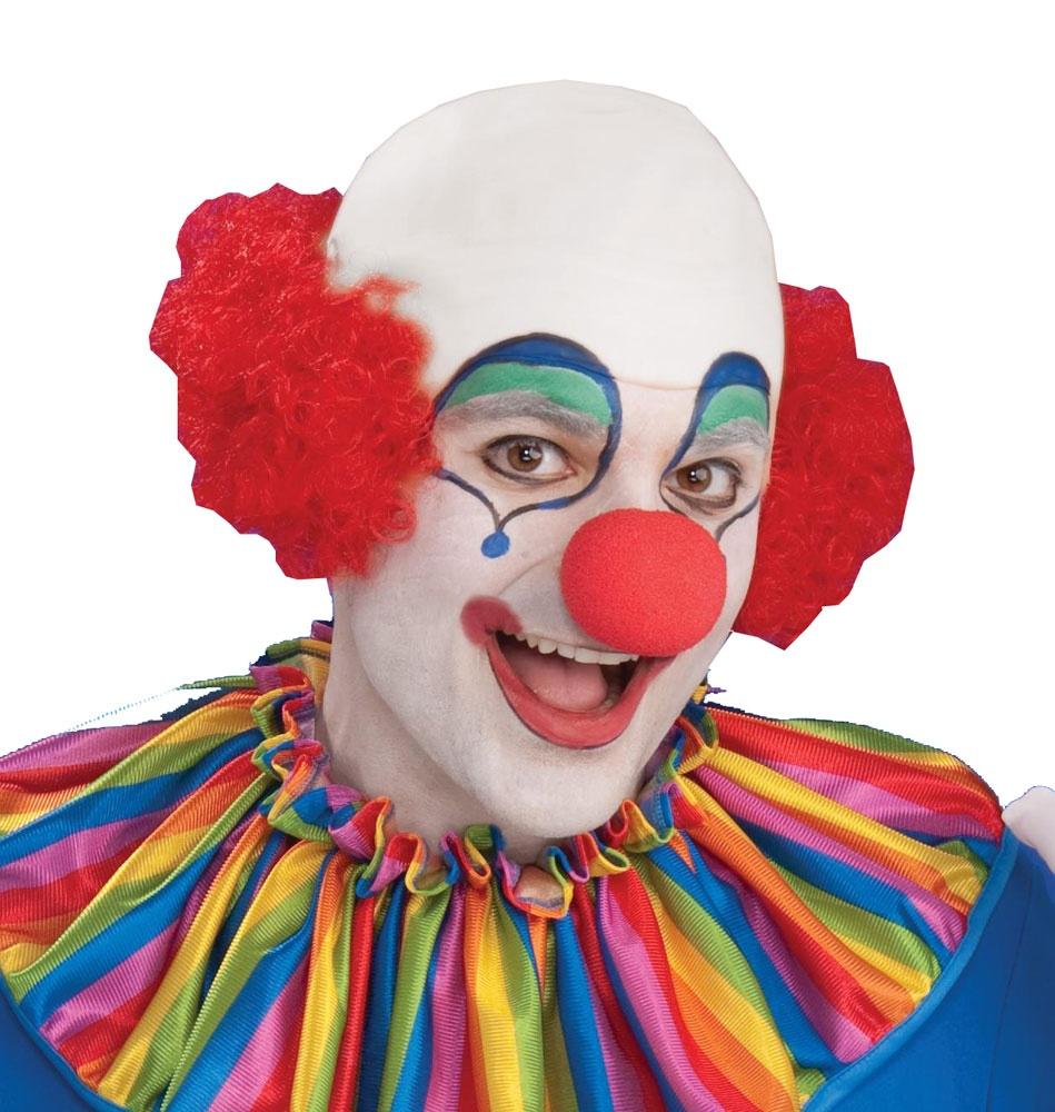 bald clown head wig mr costumes