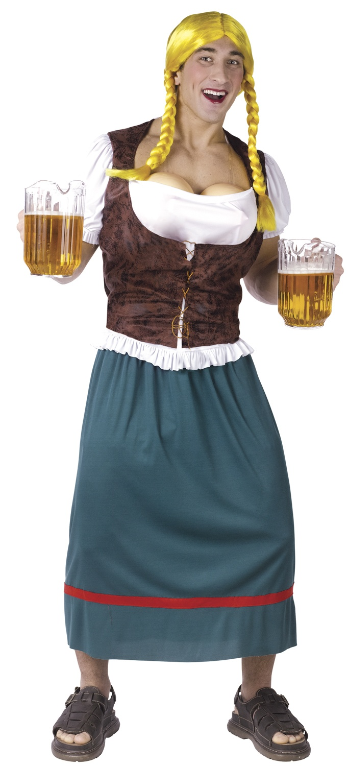 Mens Funny Beer Girl Funny Adult Costume. Beer Girl Costumes