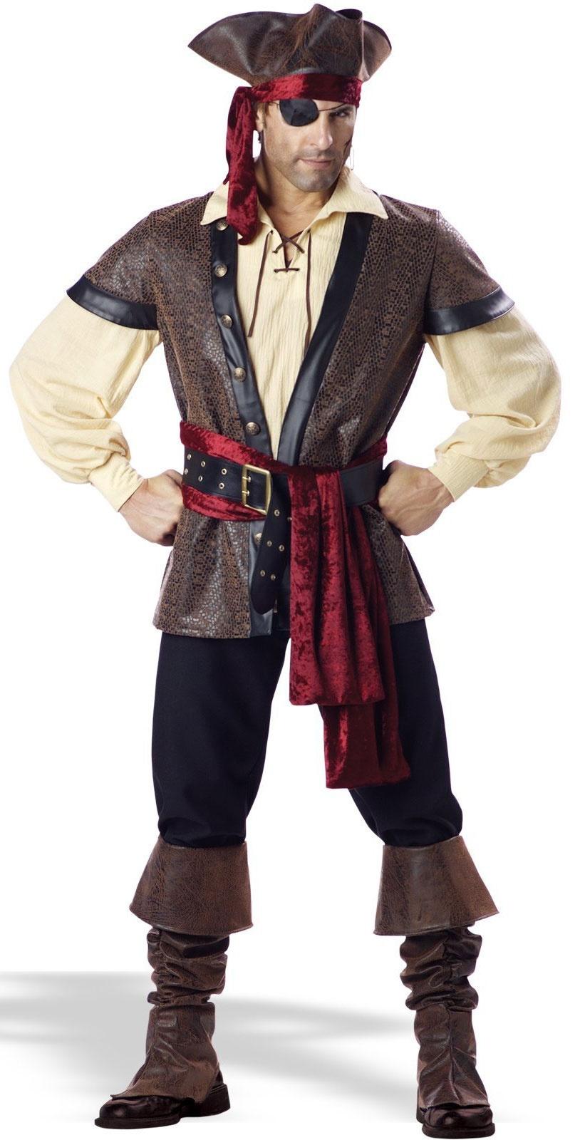 Rustic Pirate Male Adult Costume