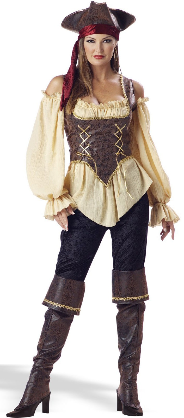 Adult Rustic Pirate Lady Costume - Mr. Costumes