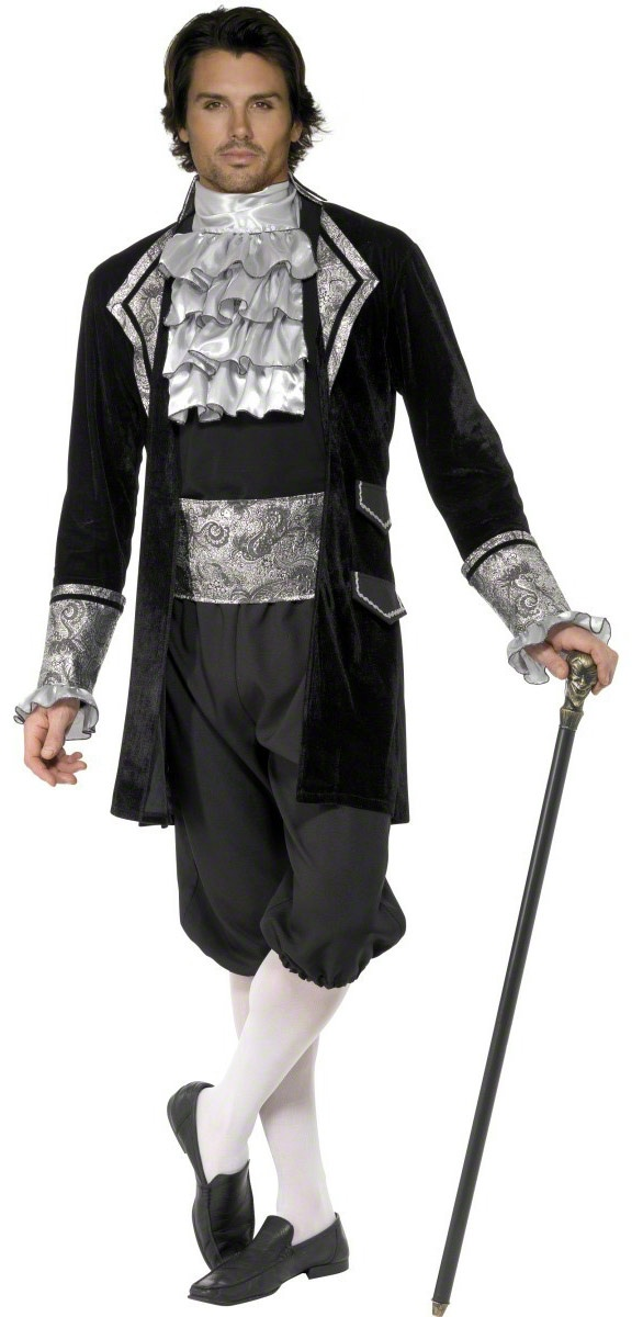 Mens French Baroque Vampire Adult Costume - Mr. Costumes