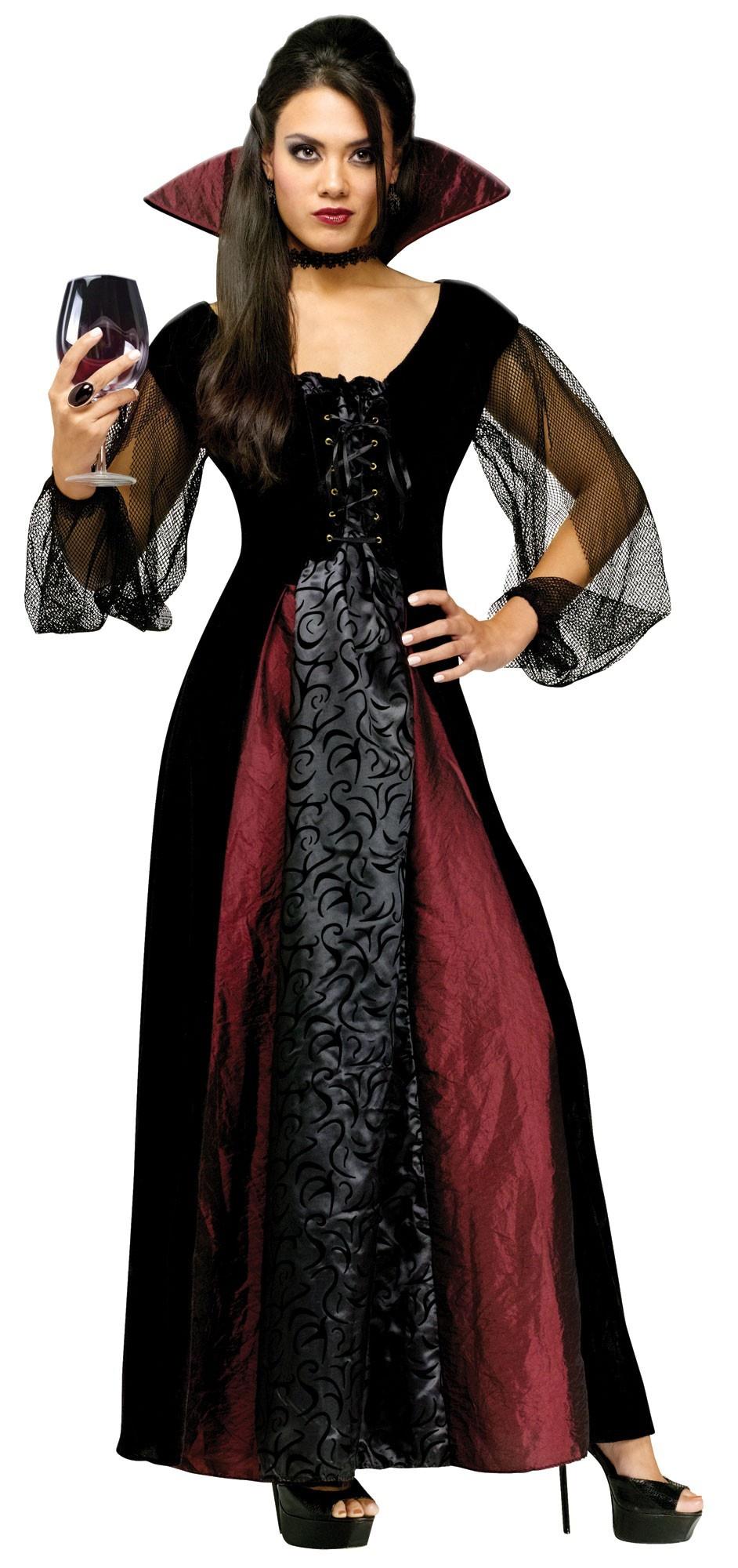 Womens Adult Maiden Gothic Vampire Costume  Mr Costumes - Vampire Costumes