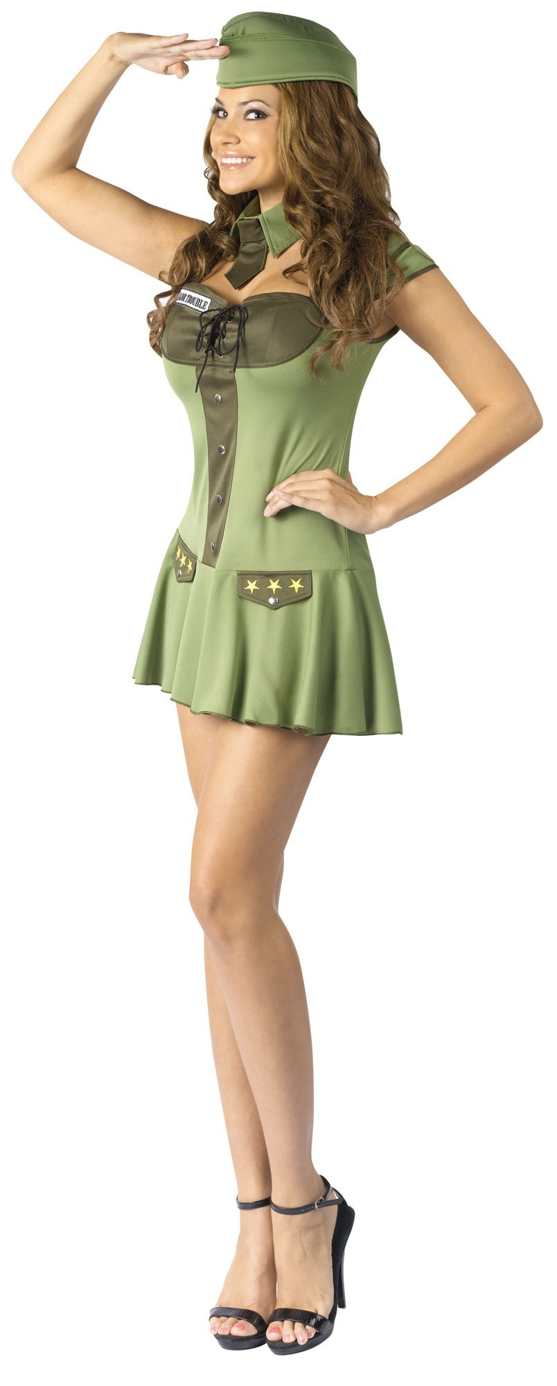 Major Trouble Sexy Army Costume - Mr. Costumes