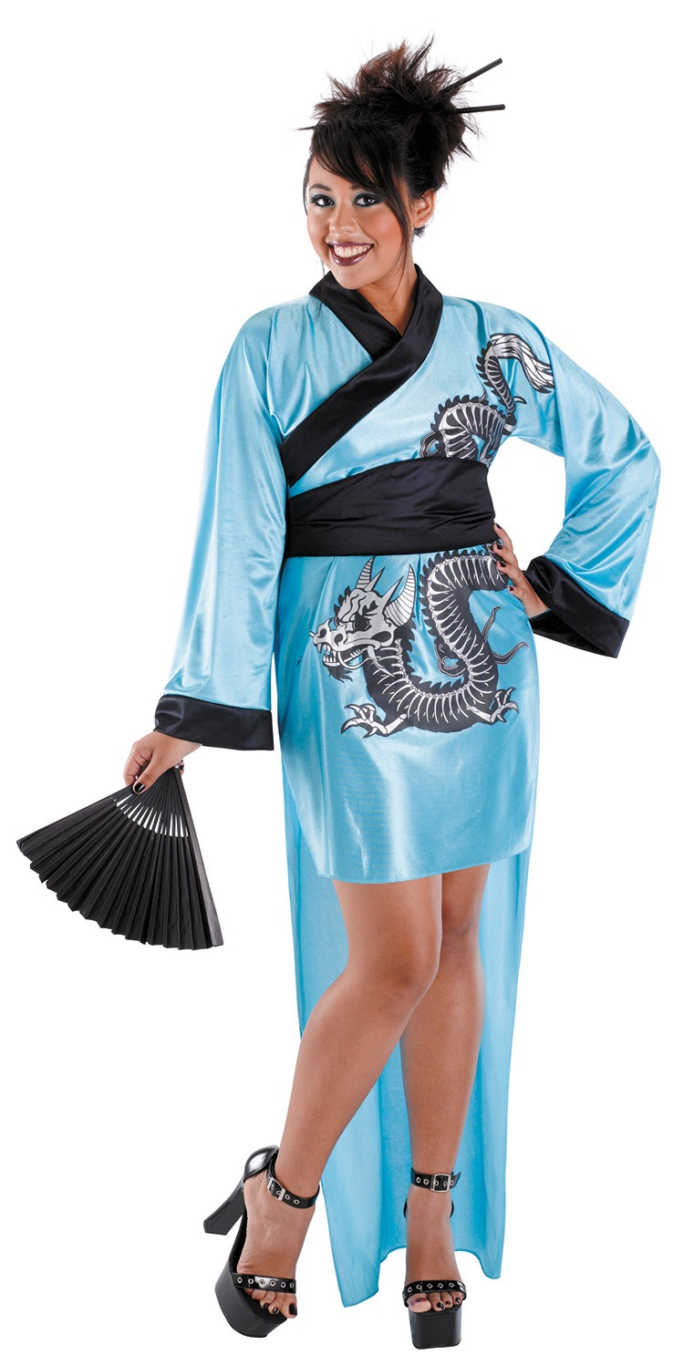 Dragon Geisha Plus Size Costume Mr Costumes
