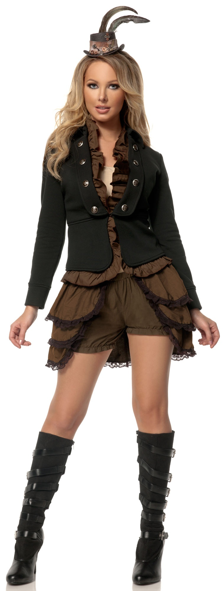 sexy steampunk lady historical costume mr costumes. Black Bedroom Furniture Sets. Home Design Ideas