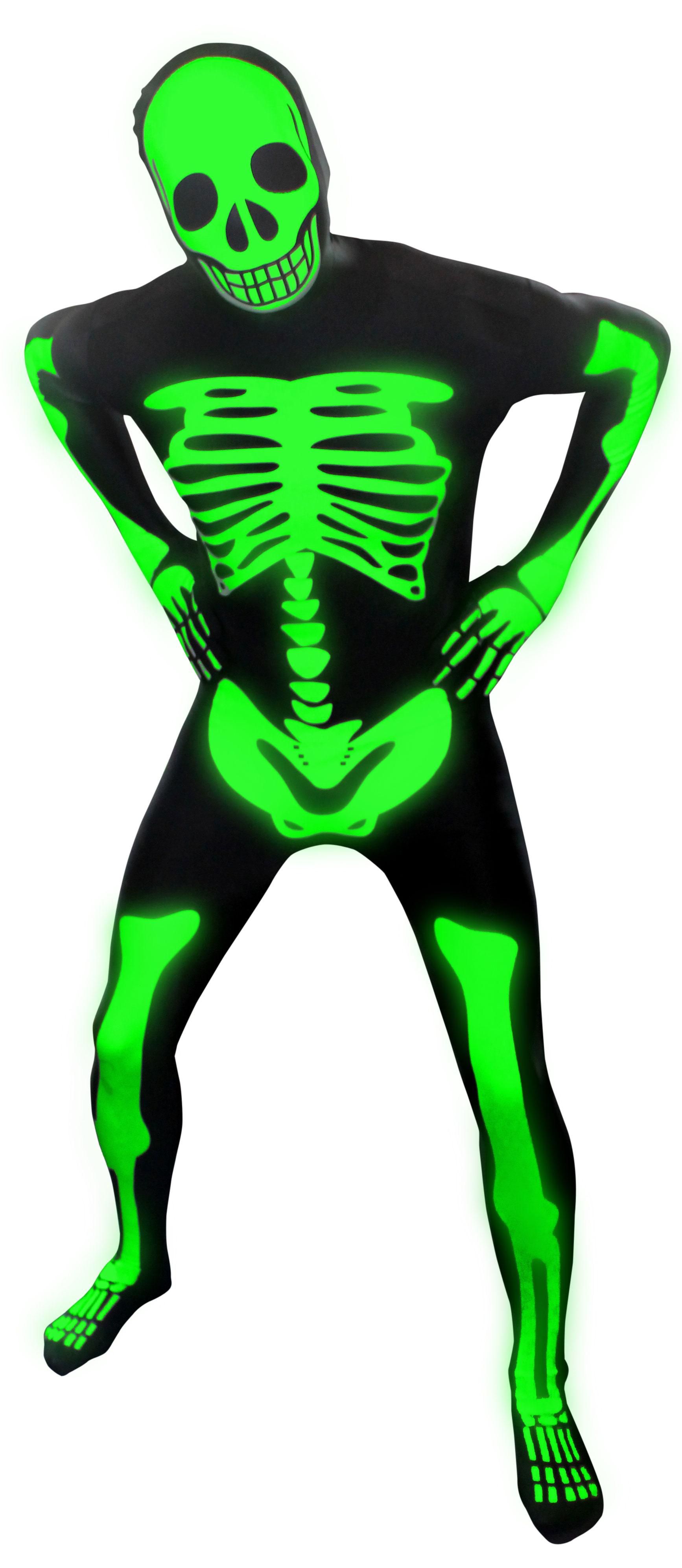 Glow Dark Skeleton Morphsuit Adult Costume