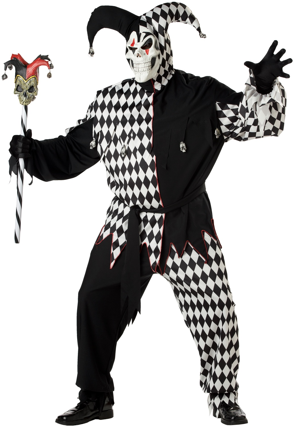 Scary Clown Jester Plus Size Costume - Mr. Costumes