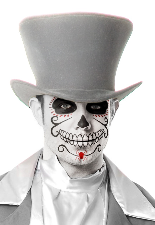Day of the Dead Mens Mask - Mr. Costumes