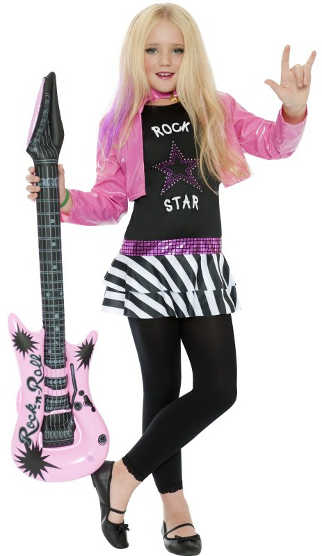 Glamminu0026#39; Girl Rockstar Kids Costume - Mr. Costumes