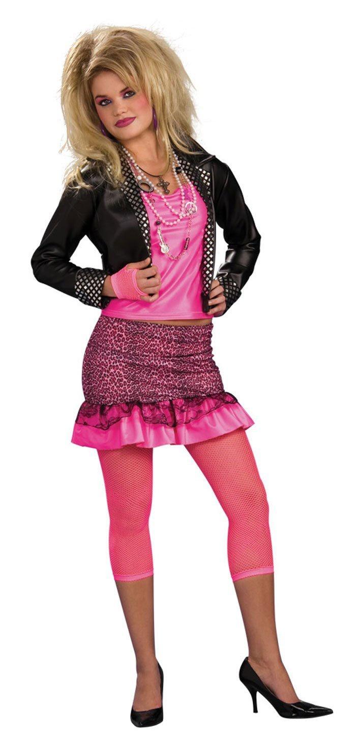womens music groupie adult 80s costume mr costumes. Black Bedroom Furniture Sets. Home Design Ideas