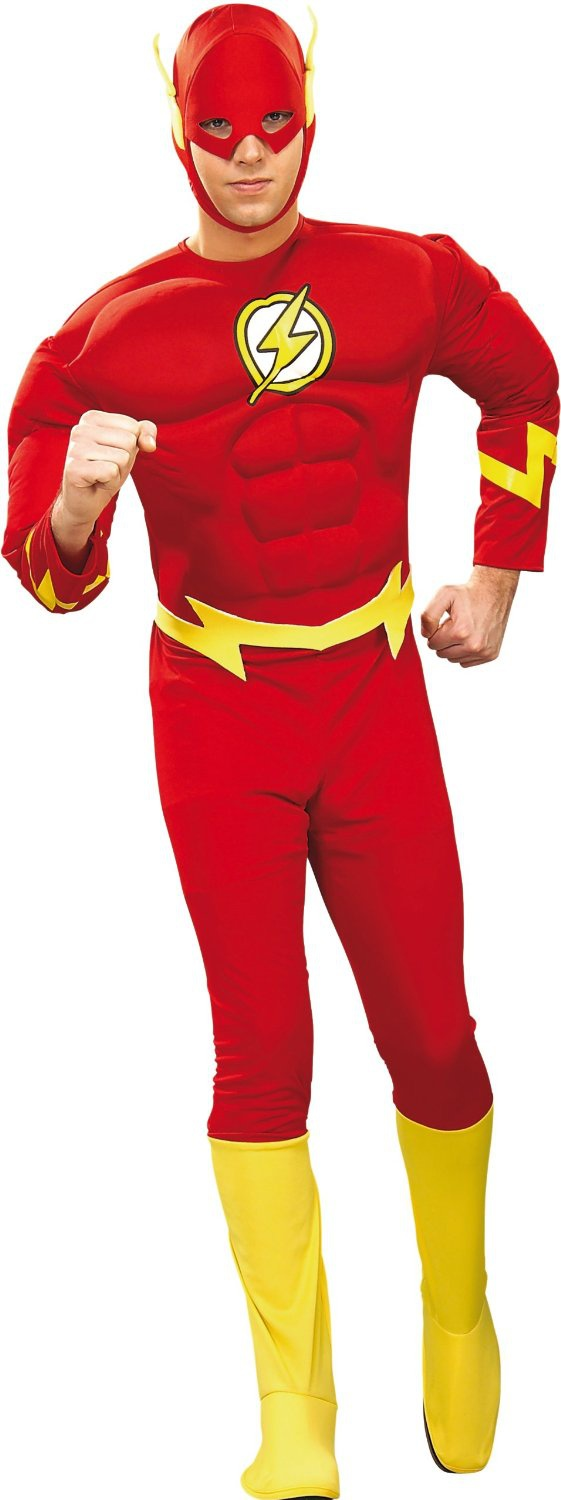 Flash Muscle Chest Adult Superhero Costume Costumes