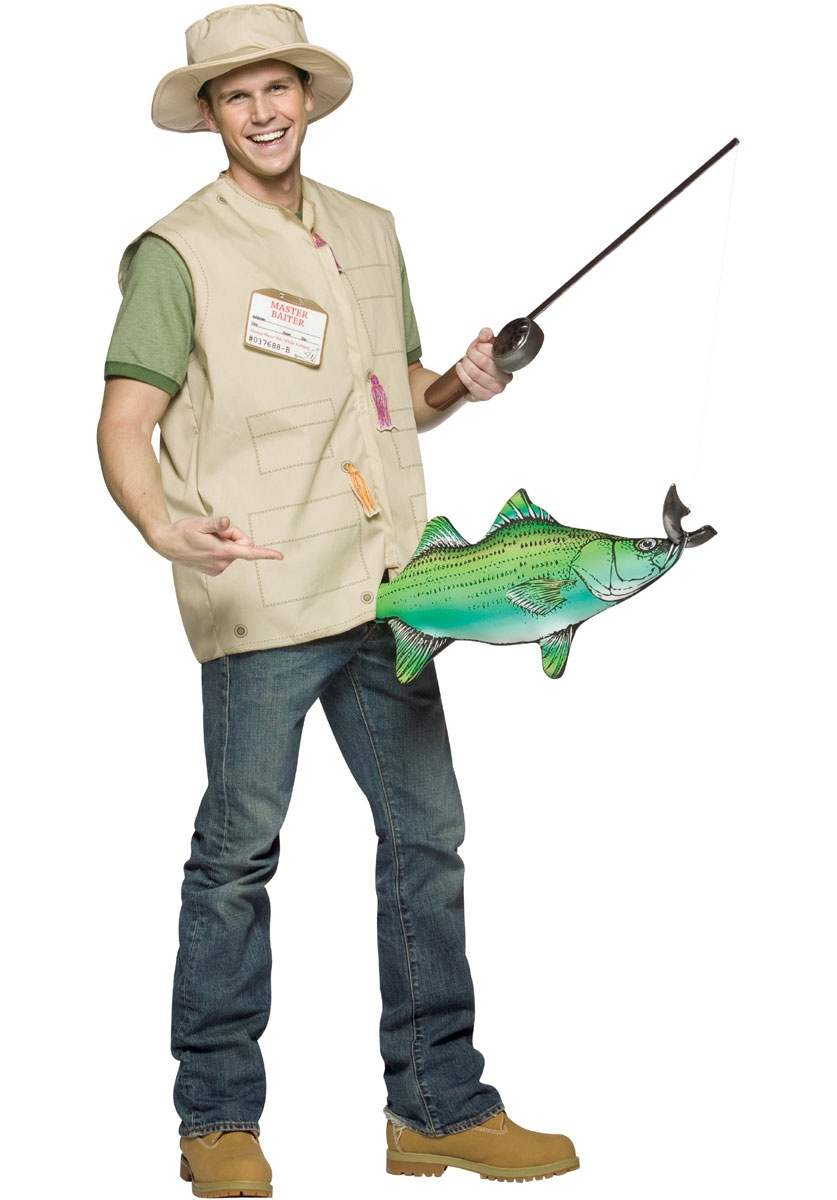 Mens catch of the day funny adult costume mr costumes for Fish costume men