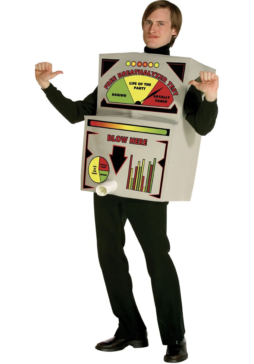 Funny superhero costumes breathalyzer funny costume