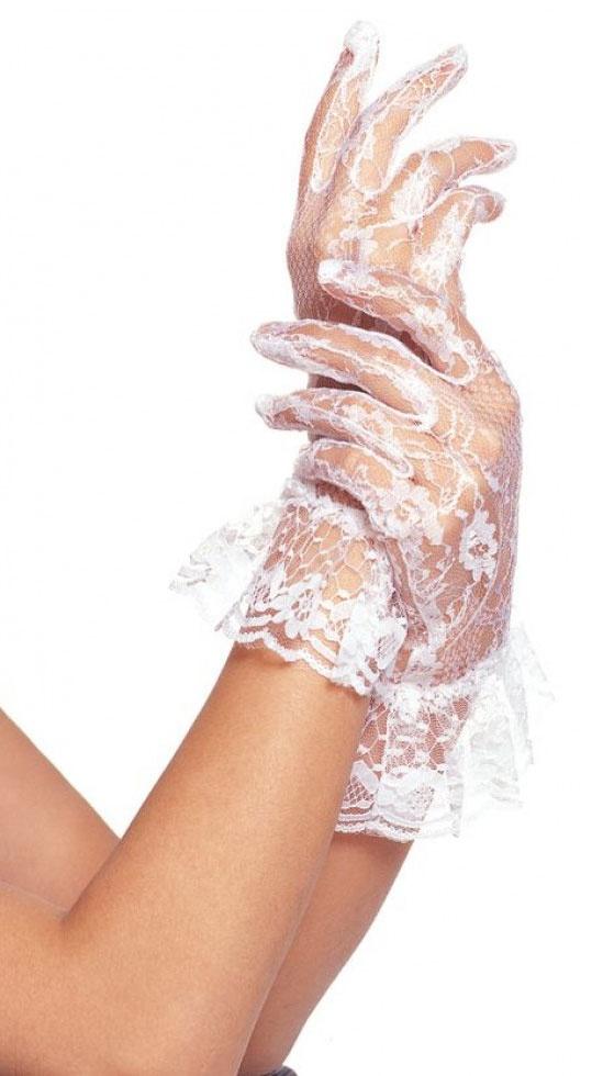 wrist length fingerless white lace gloves mr costumes