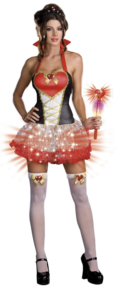 Lightup Sexy Queen of Hearts Costume. Sexy Alice in Wonderland Costumes