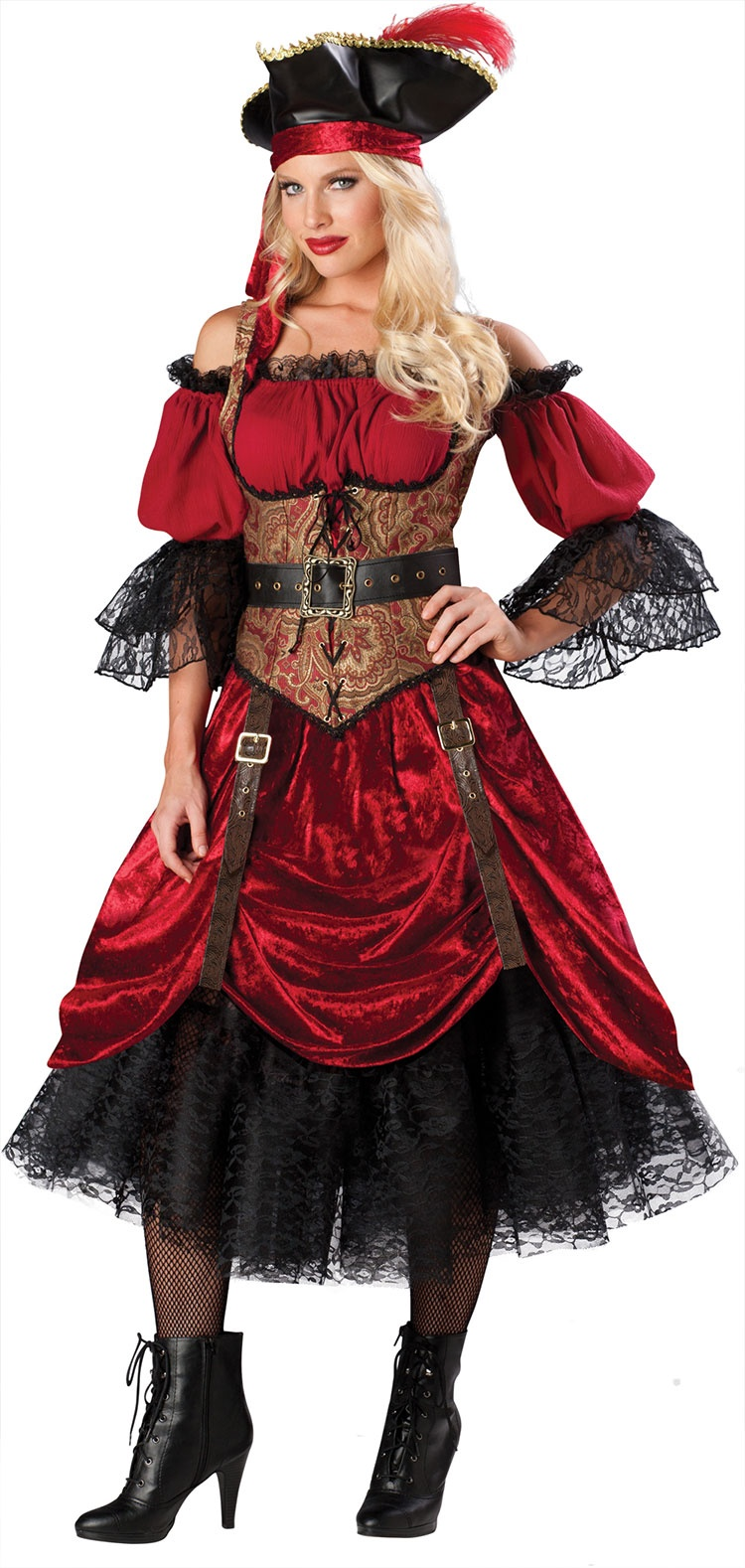 Swashbucklin Scarlet Pirate Costume