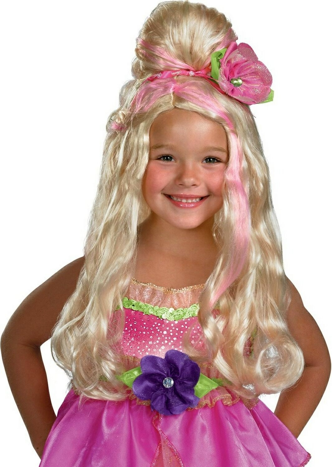 Barbie Thumbelina Kids Wig Mr Costumes