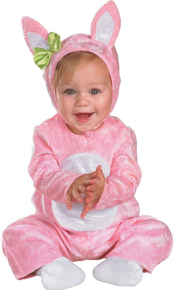 Fluffy Pink Bunny Baby Costume Costumes