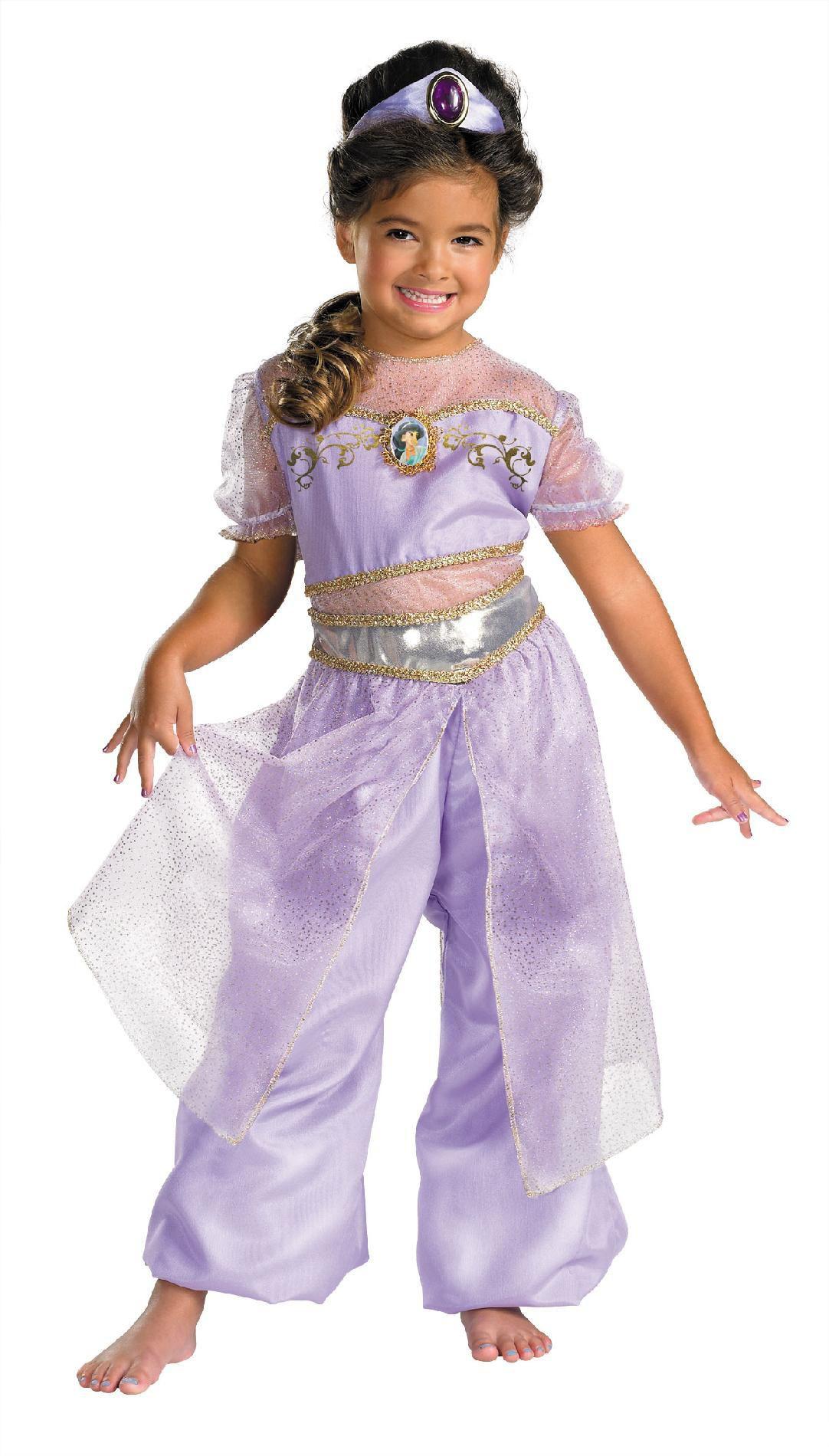 kids deluxe disney princess jasmine costume mr costumes. Black Bedroom Furniture Sets. Home Design Ideas