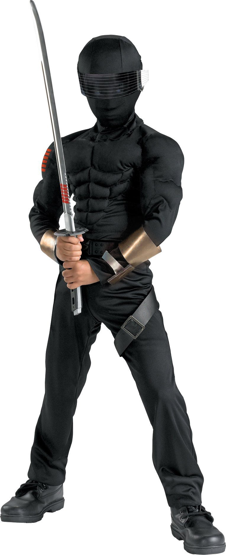 Joe Snake Eyes Muscle Chest Kids Costume Costumes