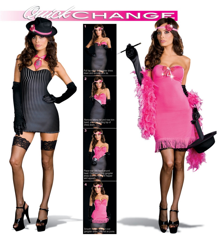 Flapper gangster costumes opinion