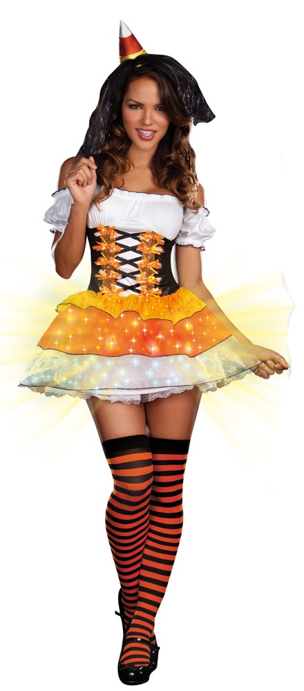Candy Corn Cutie Sexy Light Up Witch Costume