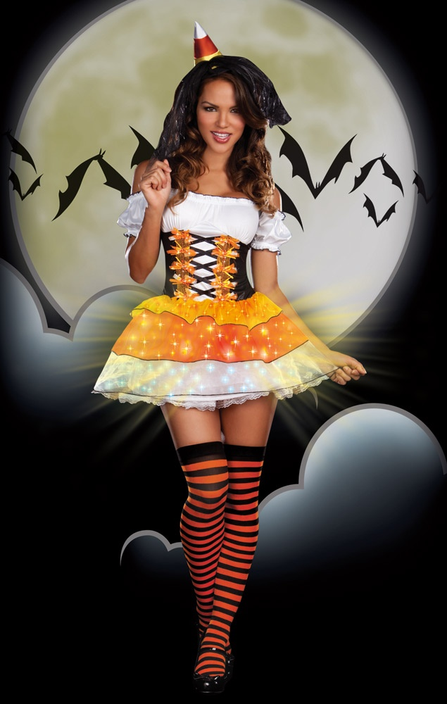 Mrcostumes   Sexy Womens Candy Corn Witch Costume 2975