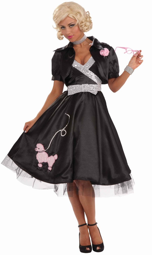 ... >> Poodle Skirt Costumes >> 50s Poodle Skirt Diva Adult Costume