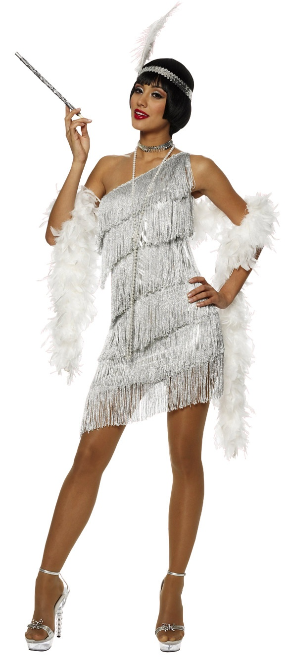 Silver Dazzling Flapper Costume Costumes