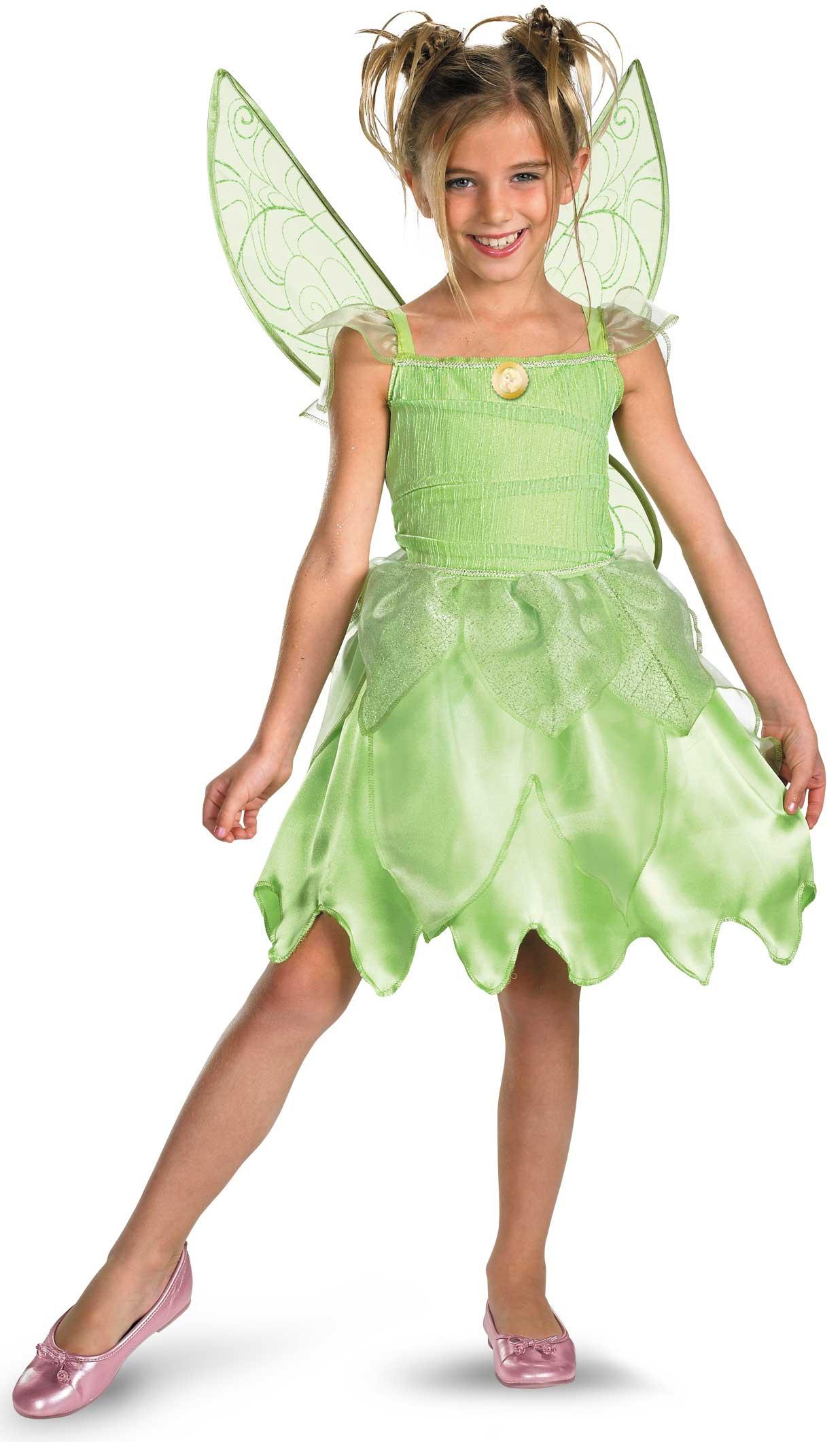 Girls Disney Tinkerbell Fairy Costume