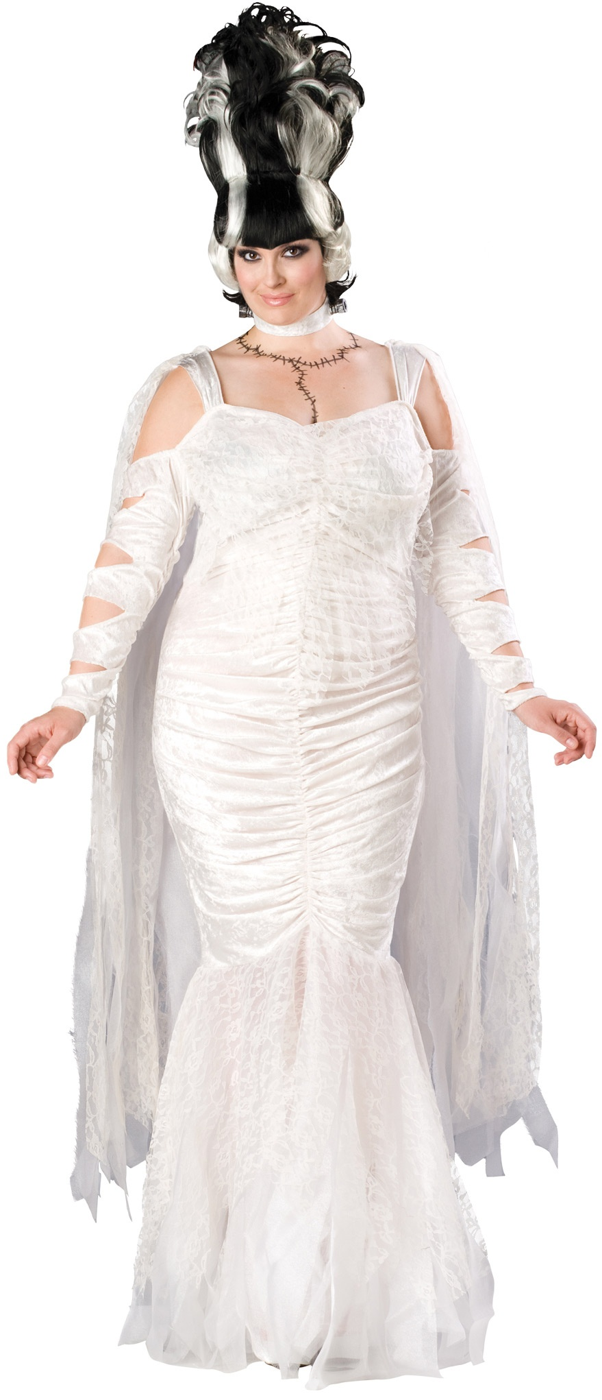 Plus size corpse bride costumes eligent prom dresses for Corpse bride wedding dress for sale