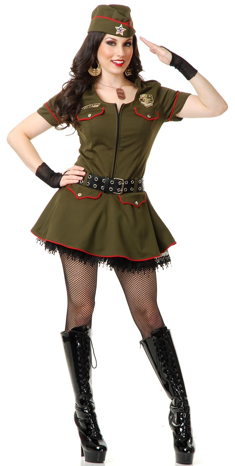 Sexy Sargent Sweetie Military Costume