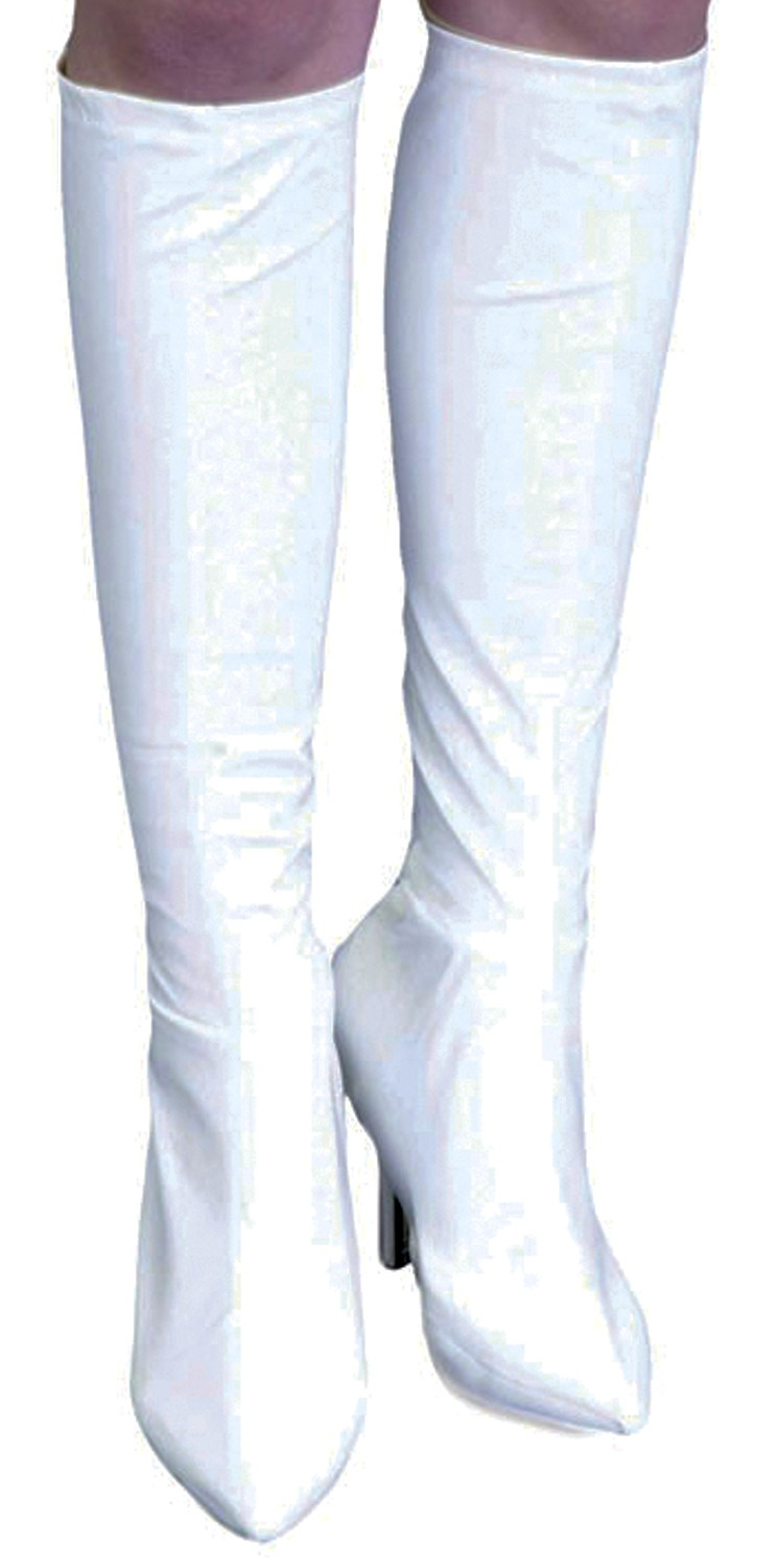 ... Accessories >> Shoes and Boots >> White Vinyl Knee High Boot Covers